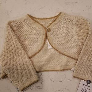 Gold knit cropped sweater